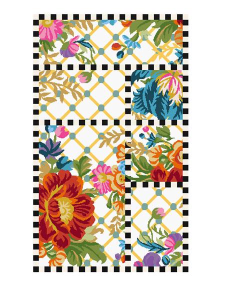 MacKenzie-Childs Flower Market Trellis Rug, 2.25' x 3.75'