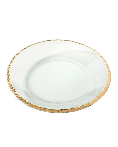 Edgey Gold Round Shallow Bowl