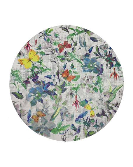 Nicolette Mayer Garden Fantasia Round Pebble Placemats, Set of 4