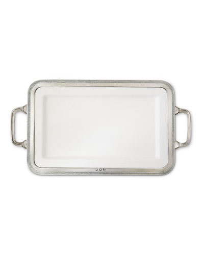 Luisa Rectangular Medium Platter with Handles