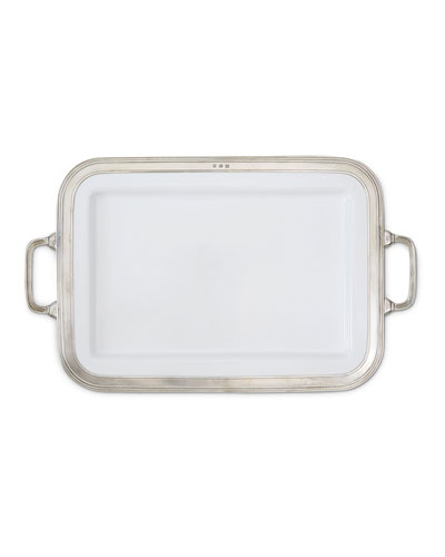Gianna Rectangular Large Platter with Handles