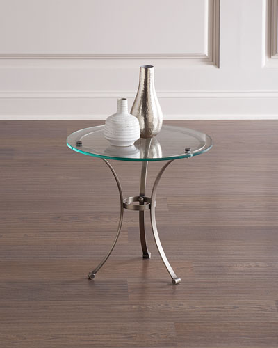 Gunmetal Petite Tripod Side Table