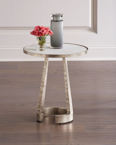 Hammered Nickel Side Table