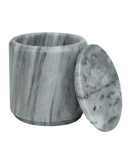 Marble Crafter Eris Collection Cloud Gray Canister