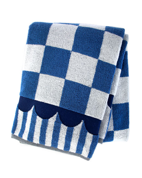 MacKenzie-Childs Royal Check Bath Towel