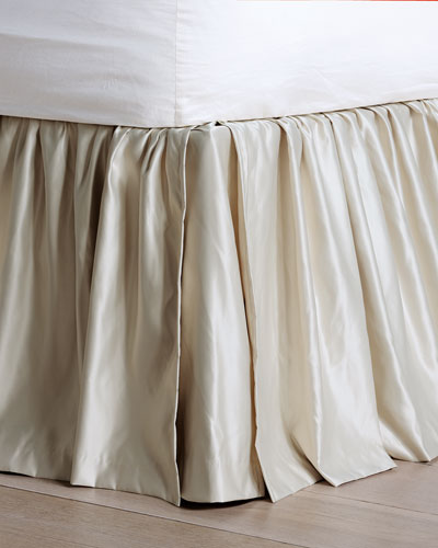 Queen Cotton Rayon Bed Skirts, Queen White Bed Skirt 16 Drop