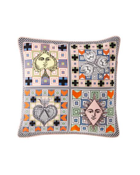 Christian Lacroix Poker Face Multicolor Pillow