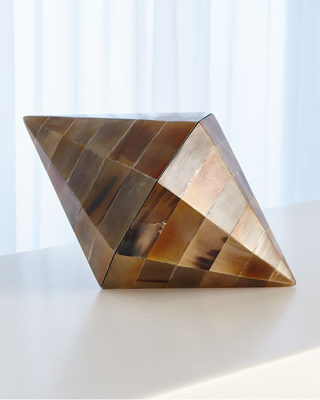 Global Views Triangle Cone Brown Horn Box