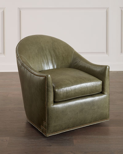 Breaux Leather Swivel Chair