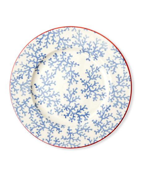 Blue Pheasant Sienna Coral Salad/Dessert Plates, Set of 4