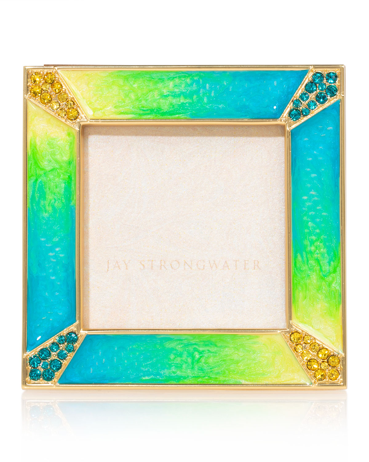 Jay Strongwater PAVE CORNER PICTURE FRAME, 2""