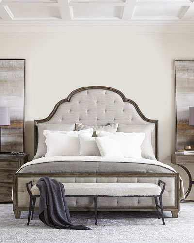 Canyon Ridge Upholstered Tufted California King Bed