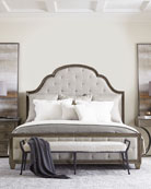 Bernhardt Canyon Ridge Upholstered Tufted King Bed