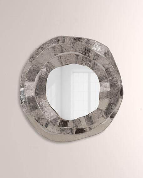 John-Richard Collection Ripple Brass Mirror
