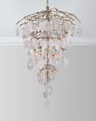 John-Richard Collection Glass Leaf 26-Light Chandelier