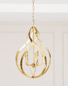 John-Richard Collection Ribbons of Brass Swirls Pendant