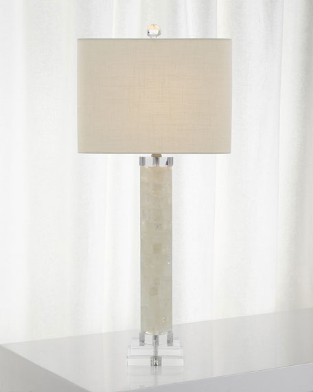 John-Richard Collection White Calcite and Quartz Lamp