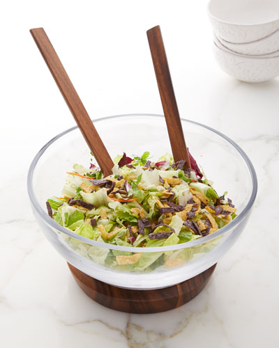 Cooper Salad Bowl with Servers