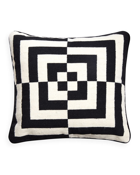 Jonathan Adler Op Art Square Pillow