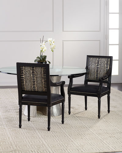 Maurepas Leather Dining Arm Chair