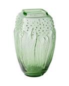 Lalique Green Muguet Vase