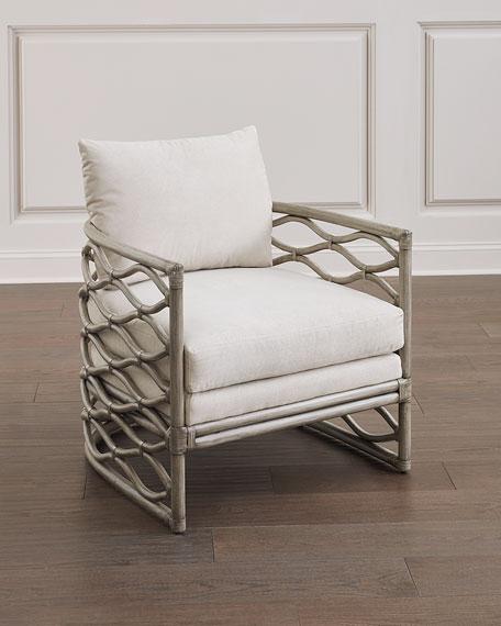 Bernhardt McKinley Rattan Wrapped Chair
