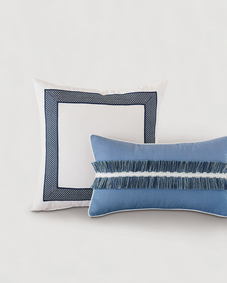 Eastern Accents Sky Fringe Lumbar Pillow
