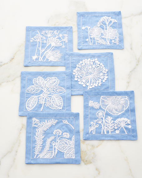 Kim Seybert Sunprint Cocktail Napkins, Set of 6