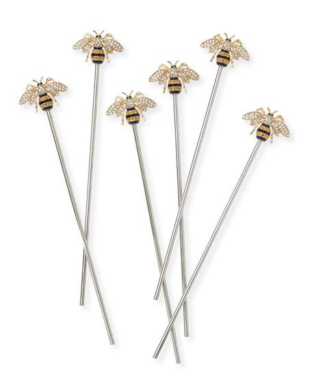 Joanna Buchanan Stripey Bee Swizzle Sticks, Set of 6