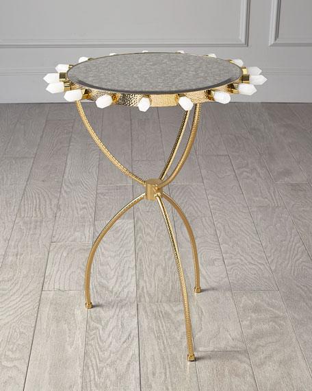 Emporium Home for William D Scott Lola Quartz Brass Table