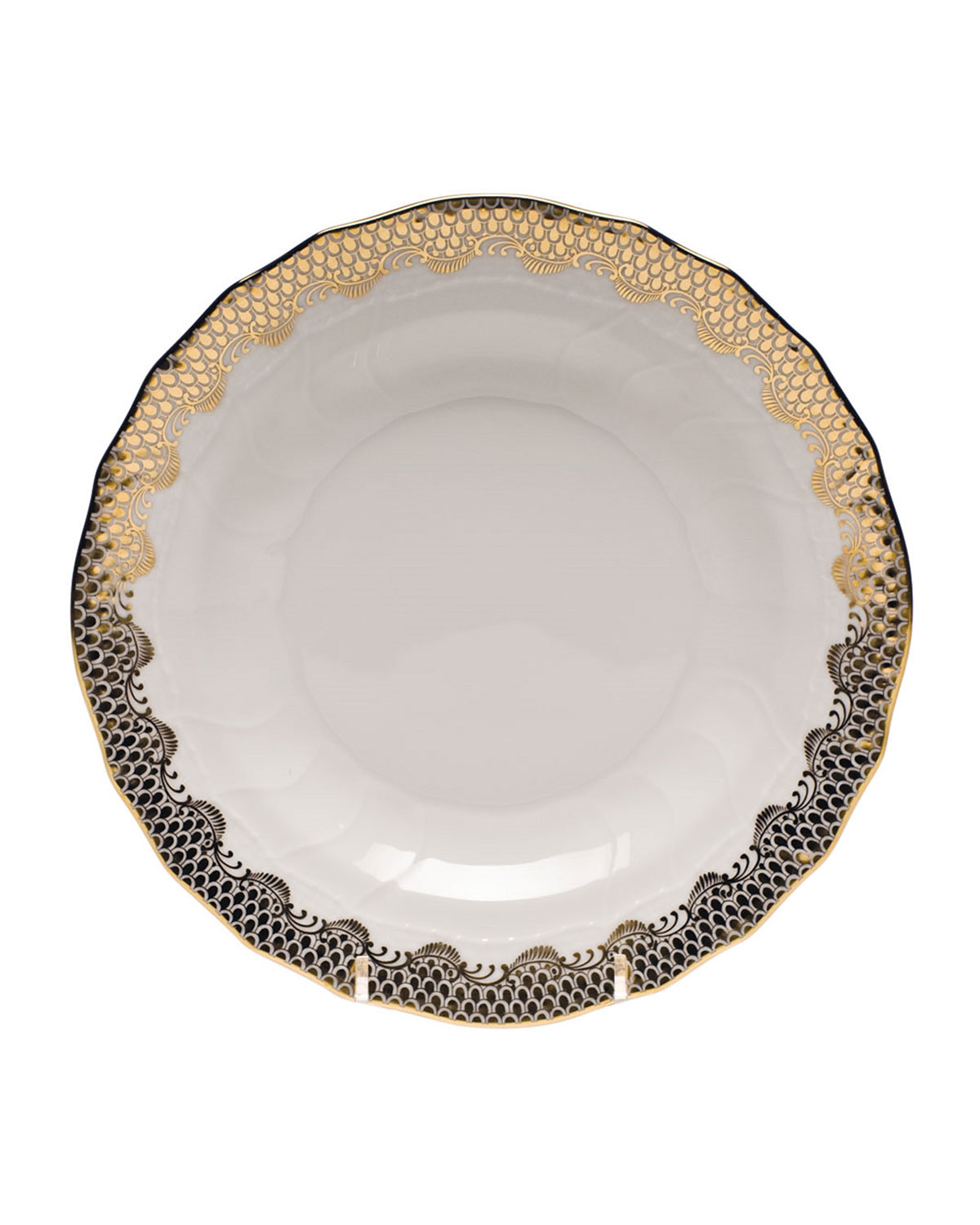 Herend GOLD FISH SCALE DESSERT PLATE