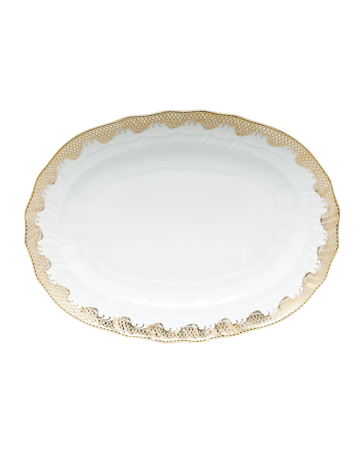 Herend GOLD FISH SCALE PLATTER