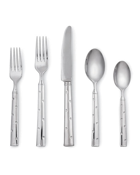 kate spade new york larabee dot 5-piece flatware set