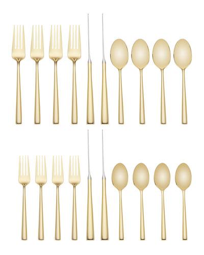 malmo gold 20-piece flatware set