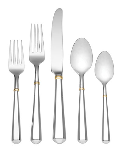 todd hill gold 5-piece flatware set