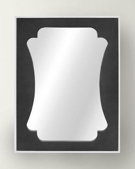 Worlds Away Vista Shagreen Mirror