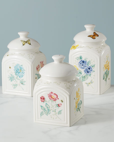 Lenox Butterfly Meadow Kitchen Canisters, Set of 3