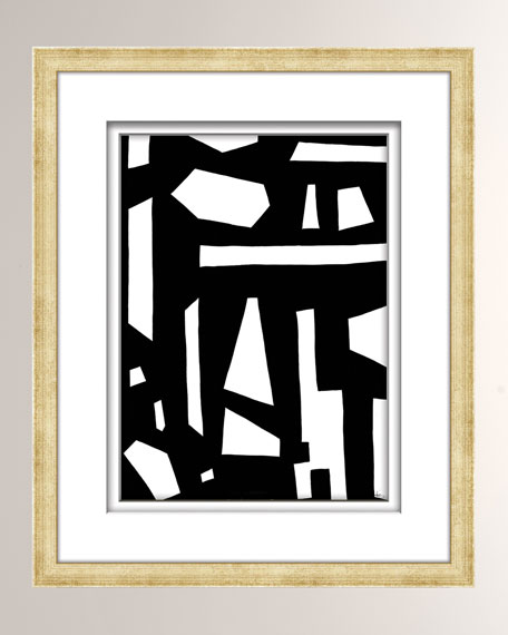 William D Scott Black/White Abstract Art - 1