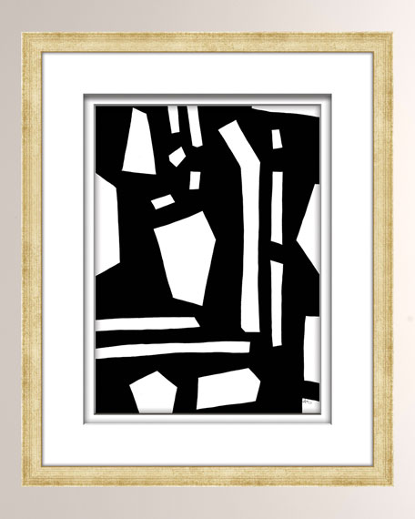 William D Scott Black/White Abstract Art - 3
