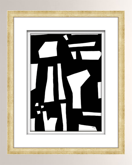 William D Scott Black/White Abstract Art - 2