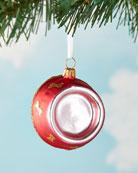 Exclusive Dog Bowl Christmas Ornament