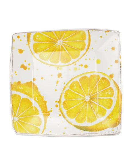 Vietri Melamine Fruit Lemon Square Platter