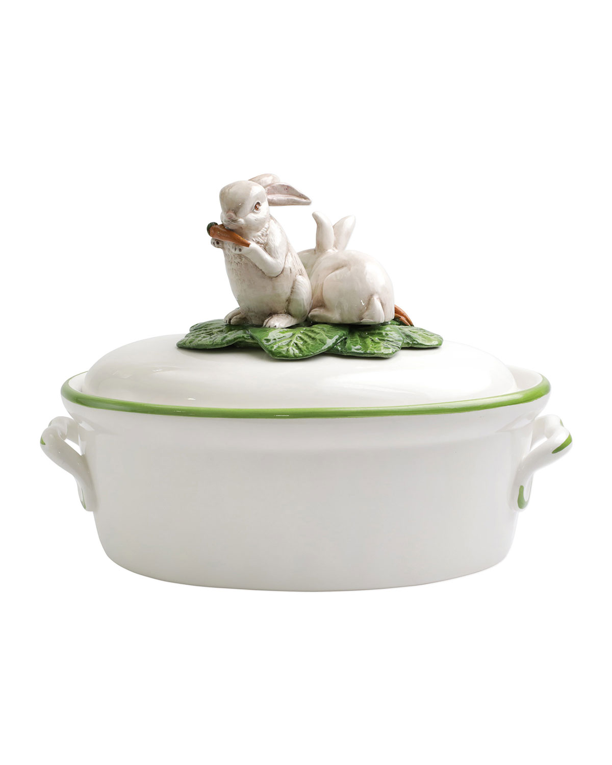 Vietri SPRING VEGETABLES TUREEN WITH BUNNIES