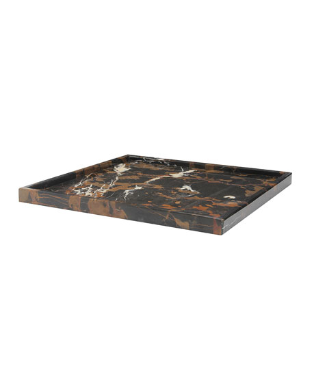 "Marble Crafter Ambrosia Collection 12"" Honed Finish Marble Tray"