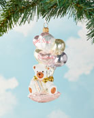 Glassware Art Studio Baby's First Christmas Bear with