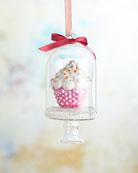 Christborn Wegner Cupcake In Dome Christmas Ornament