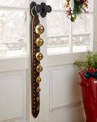 Belsnickel Enterprises 8 Brass Jingle Bells on Dark