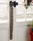 Belsnickel Enterprises 9 Brass Jingle Bells on Gray