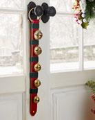 Belsnickel Enterprises 5 Brass Jingle Bells on Red
