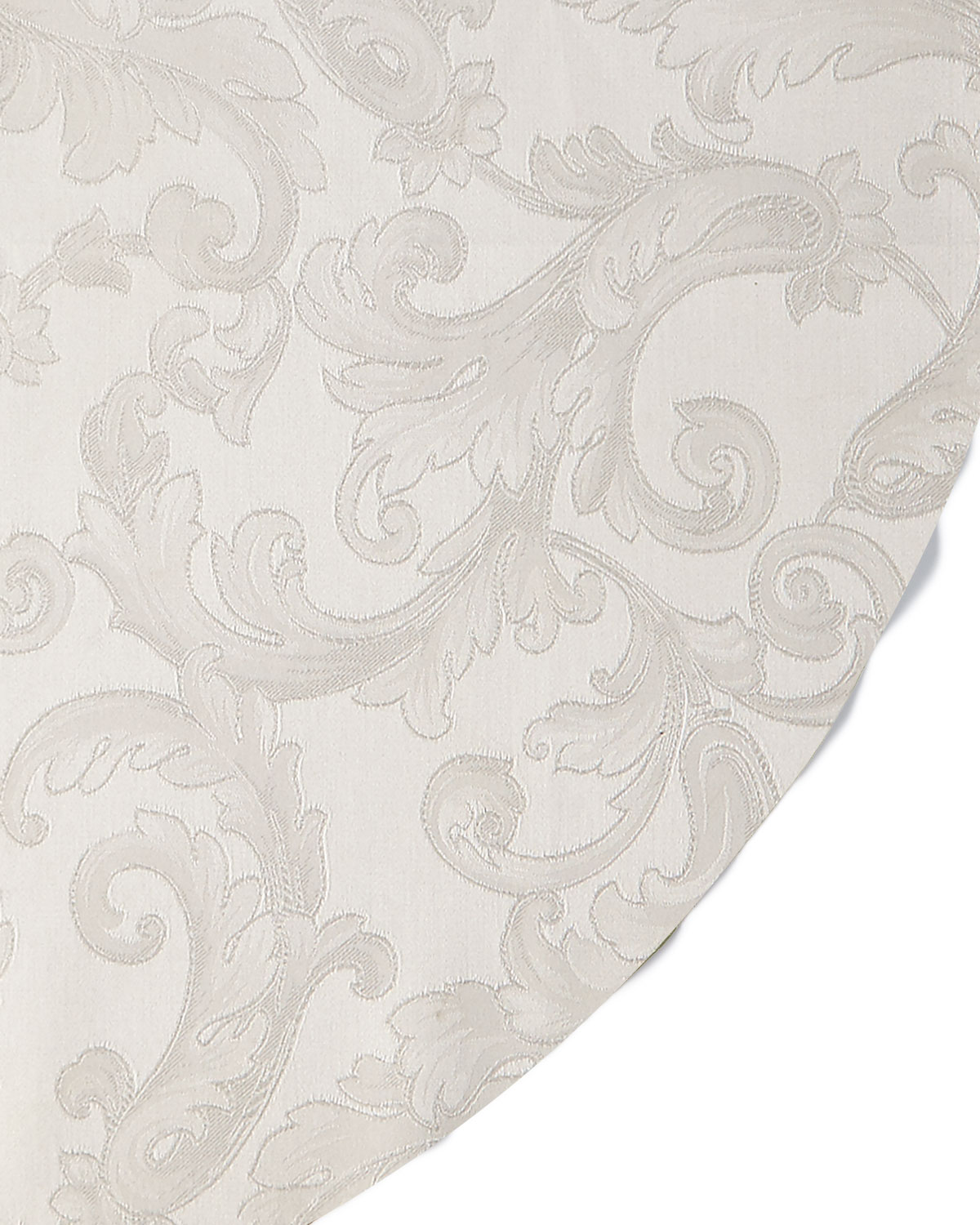 "Sferra Table linens & accessorys PLUME JACQUARD 90"" ROUND TABLECLOTH"